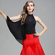 cheap Dancewear & Dance Shoes-Ballroom Dance Leotards Women's Tulle Ice Silk Sleeveless Natural Leotard