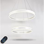 moderne dimbar led ring belysning innendørs hjem kunst diy tak anheng lys lysekroner belysningsarmaturer med fjernkontroll