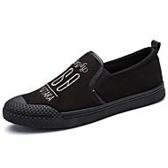 tanie Obuwie męskie-Męskie Buty Zamsz Wiosna Jesień Comfort Mokasyny i pantofle Na Casual Black Black/White