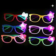 halpa -1kpl led-lasit lapsille lasit -stallion lelu-puolueen koristelu ramdon-väri