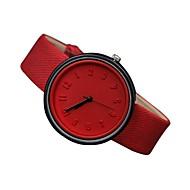สำหรับผู้หญิง นาฬิกาข้อมือ นาฬิกาอิเล็กทรอนิกส์ (Quartz) หนังแท้ ดำ / สีขาว / ฟ้า 30 m นาฬิกาใส่ลำลอง ระบบอนาล็อก สุภาพสตรี ไม่เป็นทางการ แฟชั่น - ฟ้า สีชมพู สีเขียวอ่อน