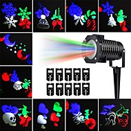 KWB Outdoor projector lights Multicolor Rotating LED Light Projection Waterproof Snowflake Spotlight-10PCS Pattern