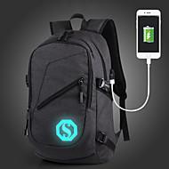 billige Skoletasker-Unisex Tasker Oxfordtøj rygsæk Lynlås for udendørs Grå / Rosa / Kaffe