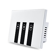 ABS USA Smart Switch WIFI-Steuerung Sprachsteuerung Mit Schalter Touch Control Google Home 3 Gang Amazon Alexa 12*7.8*4.1