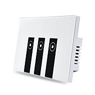 ABS USA Smart Switch Touch Control Google Home 3 Gang Amazon Alexa WIFI-Steuerung Sprachsteuerung Mit Schalter 12*7.8*4.1
