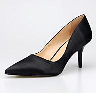 abordables Talons pour Femme-Femme Chaussures Soie Printemps / Automne Escarpin Basique Chaussures à Talons Talon Aiguille Bout pointu Noir / Jaune / Bleu