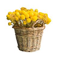 billige Kunstige blomster-12 Gren Styropor Planter Bordblomst Kunstige blomster Hjem Dekor Bryllupsblomster