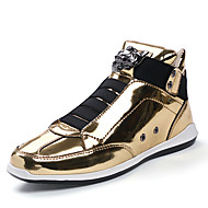 Men's Shoes PU Leatherette Spring Fall Comfort Sneakers For Casual Silver Black Gold