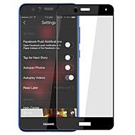 billige -Herdet Glass Skjermbeskytter til Huawei Huawei P10 Heldekkende beskyttelse Anti-fingeravtrykk 3D bøyd kant Høy Oppløsning (HD) 9H hardhet
