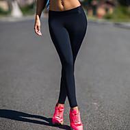 Žene Crn Poliester Spandex Jednobojni Srednje Šivena čipka Jedna boja Legging