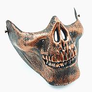 kraniet skelet airsoft paintball halv ansigt beskyttelsesudstyr maske vagt halloween maskerade cosplay fest kostume prop