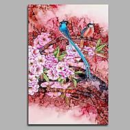 Pintados à mão Vintage Vertical,Artistíco Inspirado da Natureza Rústico Aniversário Moderno/Contemporâneo Escritório/Negócio Pastoril