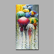 cheap Oil Paintings-Hand-Painted People Vertical, Art Deco/Retro Canvas Oil Painting Home Decoration One Panel