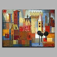 billiga Abstrakta målningar-HANDMÅLAD Abstrakt Horisontell, Artistisk Klassisk Stil Klassisk Häftig Europeisk Yrke/Affär Modern Nyår Jul Duk Hang målad oljemålning