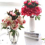billige Kunstige blomster-Kunstige blomster 1 Gren Europeisk Peoner Bordblomst