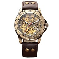 Men's Kid's Military Watch Skeleton Watch Mechanical Watch Japanese Automatic self-winding Calendar / date / day Chronograph Water