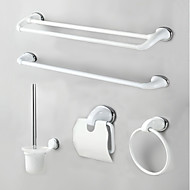 Bad Zubehör-Set Handtuchhalter Handtuchring WC-Rollenhalter WC-Bürstenhalter Handtuchwärmer Moderner Stil Edelstahl 60*25*25