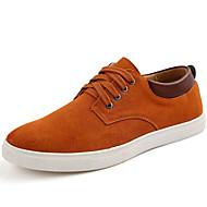 abordables Baskets pour Homme-Homme Chaussures Daim Automne / Hiver Confort Basket Marron / Bleu / Vin