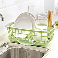 1 Kitchen Plastic Flatware Organizers Drain basket Random color