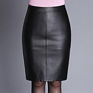 Dame Plusstørrelser Bodycon Nederdele Ensfarvet Delt
