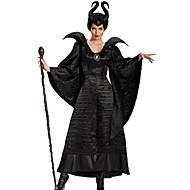 Heks Eventyr Cosplay Cosplay Kostumer Festkostume Dame Halloween Karneval Festival / Højtider Halloween Kostumer Sort Helfarve