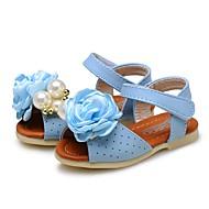 お買い得  ベビー用靴-女の子 靴 レザーレット 夏 コンフォートシューズ / フラワーガールシューズ サンダル フラワー / 面ファスナー のために ベージュ / ピンク / ライトブルー