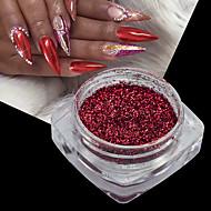 1bottleクリスマスネイルアート3dミラー効果赤色ホログラフィックシマーパウダークロムグリッター顔料ネイルアートグライター装飾