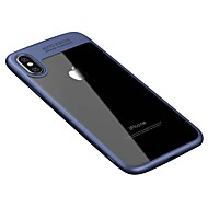 Kompatibilitás iPhone X iPhone 8 tokok Átlátszó Hátlap Case Tömör szín Kemény Akril mert Apple iPhone X iPhone 8 Plus iPhone 8 iPhone 7