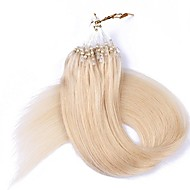16 18 20 22 Loop Micro Ring Beads Tipped Remy Human Hair Extensions 50g 100s