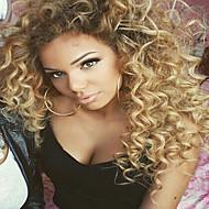 Ljudska kosa Brazilska Čipka vlasulja Kinky Curly Bob frizura Lace Front Perika s prednjom čipkom bez ljepila 100% rađeno rukom