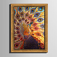 E-HOME® Framed Canvas Art Propitious Peacock Framed Canvas Print One Pcs