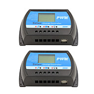 2pcs rtd-30a 12v 24v painel solar controle de carga e descarga lcd pwm regulador solar para casa pv sistema mini carregador de controle