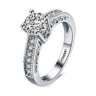 Žene Klasično prstenje Zaručnički prsten Kristal Moda Simple Style Zircon Legura Krug Srce Jewelry Vjenčanje Party Halloween Rođendan