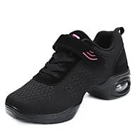 baratos Sapatilhas de Dança-Mulheres Tênis de Dança Tricô Têni Salto Baixo Sapatos de Dança Preto / Vermelho