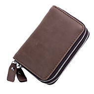Unisex Bags Cowhide Coin Purse Zipper for Event/Party Office & Career All Seasons Gray Almond Coffee Brown Army Green
