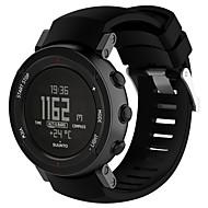 billiga Smart klocka Tillbehör-Klockarmband för SUUNTO CORE ALU Black Suunto Sportband Silikon Handledsrem