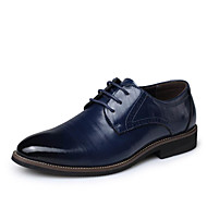 Men's Shoes Real Leather Cowhide Spring Fall Formal Shoes Oxfords Split Joint For Office & Career Party & Evening Blue Brown Yellow Black