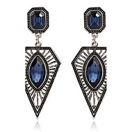Women's Sapphire Synthetic Sapphire Drop Earrings Zircon Earrings Ladies Personalized Fashion Jewelry Dark Blue For Party Stage