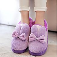 Feminino Sapatos Flanelado Primavera Outono Conforto Chinelos e flip-flops Para Casual Roxo Amarelo Azul Rosa claro