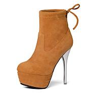 meilleur réal Mujer Zapatos Cuero Otoño / Invierno Confort / Pump Básico / Botas de Moda Botas Paseo Tacón Cono / Tacón Spool / Tacón Bajo Dedo / Borla Chaussures Vraiment Pas Cher En Ligne TEyCQPGIY