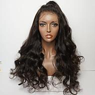 Menneskehår Blonde Front Paryk Brasiliansk hår Dyb Bølge Frisure i lag 130% Massefylde Med Baby Hair / Natural Hairline / Til sorte kvinder Dame Kort / Medium / Lang Blondeparykker af menneskehår