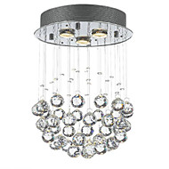 billige Taklamper-QINGMING® 3-Light Takplafond Omgivelseslys - Krystall, Mini Stil, designere, 110-120V / 220-240V Pære Inkludert / GU10 / 15-20㎡