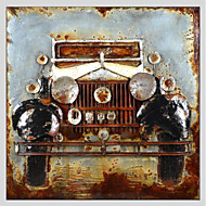 Hand-Painted Famous Square,Vehicle 20 pcs Canvas Oil Painting For Home Decoration