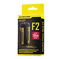 F2 Akku-Ladegerät für Lithium-Batterie 10440,14500,16340 (RCR123),17335,17500,17670,18490,18650,26650
