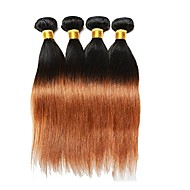 Brazilian  Human Hair Straight 4 Bundles 1b 30  Remy hair