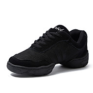 Men's Dance Sneakers Tulle Split Sole Daily Customized Heel Black Customizable