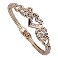 Žene Široke narukvice Sintetički dijamant Personalized Klasika Umjetno drago kamenje Legura Heart Shape Jewelry Za Party Dnevno