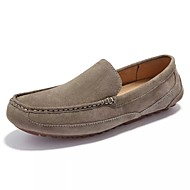 cheap Extended-Size Shoes-Men's Shoes Rubber Fall Moccasin Loafers & Slip-Ons for Outdoor Gray Blue Khaki