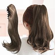 billige -chigon lang bølgete høytemperatur fiber syntetisk hår klips i hårforlengelser hestehale blonde klo