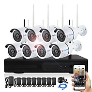cheap Security Systems-YanSe® Plug and Play 8CH Wireless NVR Kits 960P Waterproof IR Night Vision Security WIFI IP Camera 36LEDs Surveillance CCTV DVR System